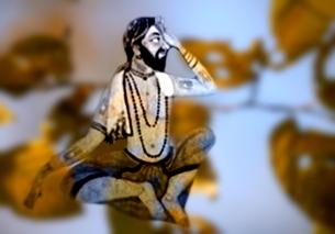 D'après le thème des aranyakas védiques, des sages qui méditent dans la forêt, spiritualité,Inde ancienne. (Marsailly/Blogostelle)