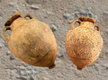 D'après des amphores massaliètes, céramique, Ve siècle avjc, Massilia, Sud de la France, Gaule celtique. (Marsailly/Blogostelle)