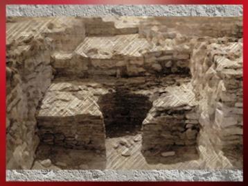 D'après les vestiges d'un four gaulois, Entremont, construction en pierres, Sud de la France, Gaule celtique. (Marsailly/Blogostelle)