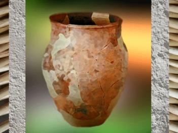 D'après un grand vase de Martigues, terre cuite, Sud de la France, Gaule celtique. (Marsailly/Blogostelle)