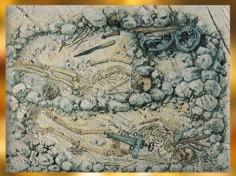 D'après les tombes celtes de la nécropole de Hallstatt, Autriche, premier âge du Fer. (Marsailly/Blogostelle)