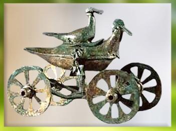 D'après un char votif à palmipèdes, Sarajevo, Bosnie, période de Hallstatt, art celte, premier âge du Fer. (Marsailly/Blogostelle)