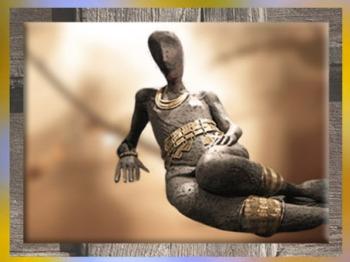 D'après les riches parures en or d'une femme, dépôt-trésor, Bourgogne, France, période de Hallstatt, art celte,premier âge du Fer. (Marsailly/Blogostelle)