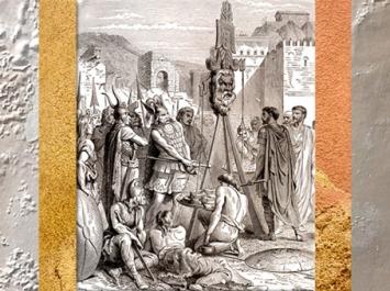 D'après le chef gaulois Brennus posant son épée sur la balance, Histoire de France en cent tableaux, Paul Lehugeur, 1886, XIXe siècle. (Marsailly/Blogostelle)