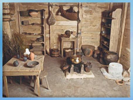 D'après une maison gauloise au quotidien, oppidum de Bibracte, La Tène, Gaule celtique. (Marsailly/Blogostelle)