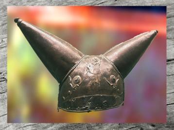 D'après un casque celte de prestige, IIe-Ie siècle avjc, Grande-Bretagne, La Tène, âge du Fer. (Marsailly/Blogostelle)