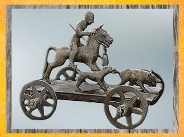 D'après un char votif, chasse au sanglier, bronze,IIe-Ier siècle avjc, Mérida, art celte ibérique, La Tène, âge du Fer. (Marsailly/Blogostelle)