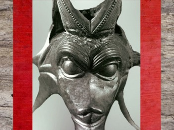 D'après un étrange visage en bronze, décor de pichet en bois, IIIe siècle avjc, Brno-Malomerice, Moravie, La Tène, art Celte. (Marsailly/Blogostelle)