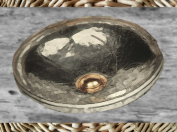 D'après une phiale en argent et or, tombe celte de Vix, Bourgogne, Ve siècle avjc, fin Hallstatt-La Tène, âge du Fer. (Marsailly/Blogostelle)