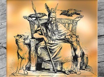 D'après le dieu Odhin, manuel de mythologie d'Alexander Murray, XIXe siècle, mythologie nordique. (Marsailly/Blogostelle)