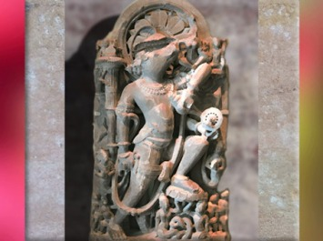 D'après le sanglier Varâha, l'un des avatars de Vishnu, et la roue çakra, Xe-XIe siècle, Inde médiévale. (Marsailly/Blogostelle)