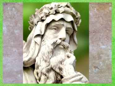 D'après le visage du druide du parc de Croome Worcester, Worcestershire, Royaume-Uni. (Marsailly/Blogostelle)