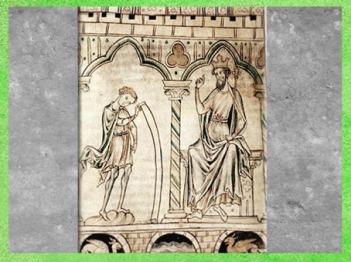 D'après Merlin, qui lit ses prédiction au roi Vortigern, manuscrit, British Library, art médiéval. (Marsailly/Blogostelle)