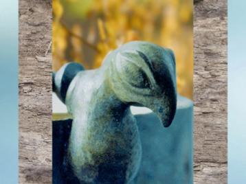 D'après un sceau-oiseau, IIe siècle avjc, tombes de Bucy-le-Long, Aisne, La Tène, Gaule celtique, âge du Fer. (Marsailly/Blogostelle)