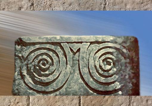 D'après les spirales du temple de Tarxien, Malte IIIe millénaire avjc, période néolithique. (Marsailly/Blogostelle)