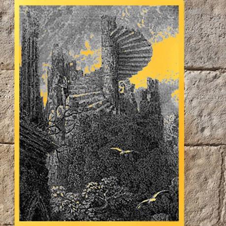 D'après un escalier en spirale, Gustave Doré, détail, Idylles du roi de Lord Alfred Tennyson, XIXe siècle. (Marsailly/Blogostelle)
