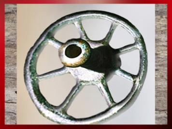 D'après une rouelle, bronze, Aisne, La Tène, Gaule Celtique, âge du Fer. (Marsailly/Blogostelle)