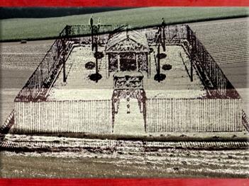 D'après un sanctuaire celte, Gournay-sur-Aronde, Oise, reconstitution, IVe-Ier siècle avjc, âge du Fer, Gaule celtique. (Marsailly/Blogostelle)