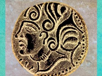 D'après le statère de Diviciacus, roi des Suessions, Ier siècle avjc, région de Soissons, Gaule celtique. (Marsailly/Blogostelle)