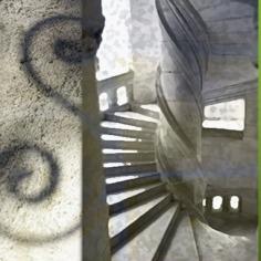 D'après l'escalier en hélice du château de Chambord, XVIe siècle, Renaissance, France. (Marsailly/Blogostelle)