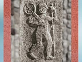 D'après le dieu Taranis et sa Roue, pilier sculpté, bas-relief, Alsace, Ier-IV siècle apjc, Gaule Romaine. (Marsailly/Blogostelle)