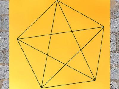 D'après le pentacle pythagoricien, pentagone étoilé. (Marsailly/Blogostelle)