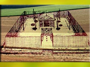 D'après le sanctuaire celte de Gournay-sur-Aronde, Oise, reconstitution, IVe-Ier siècle avjc, âge du Fer, Gaule celtique. (Marsailly/Blogostelle)