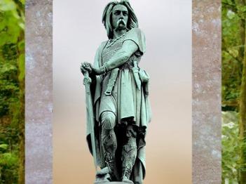 D'après Vercingétorix, statue colossale, sculpture d'Aimé Millet, Mont Auxois, 1865, Alésia, Bourgogne. (Marsailly/Blogostelle)