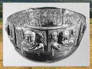 D'après le chaudron de Gundestrup, métal, Ier siècle avjc, Danemark, art Celte, âge du Fer. (Marsailly/Blogostelle)