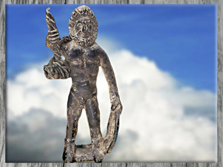D'après Taranis-Jupiter, bronze, Ier siècle apjc, Haute Marne, France, Gaule Romaine. (Marsailly/Blogostelle)