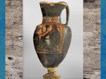 D'après une oenochoé grecque, banquet, Dionysos, tombe celte de Lavau, début Ve siècle apjc, fin Hallstatt-La Tène, âge du Fer. (Marsailly/Blogostelle)