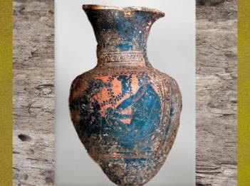 D'après l'œnochoé grecqueau moment de sa découverte,tombe celte de Lavau, début Ve siècle apjc, fin Hallstatt-La Tène, âge du Fer. (Marsailly/Blogostelle)