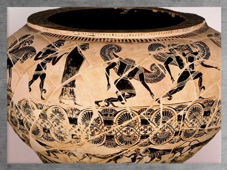 D'après Persée et Méduse la Gorgone, vers 580 avjc, période archaïque, VIe siècle avjc, Grèce antique. (Marsailly/Blogostelle)