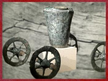D'après un char cultuel, Isère, France, VIIIe siècle avjc, période de Hallstatt, Premier âge du Fer. (Marsailly/Blogostelle)