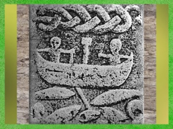 D'après une embarcation, rivière, entrelacs, mythologie nordique, scène de pêche miraculeuse ou passage. (Marsailly/Blogostelle)