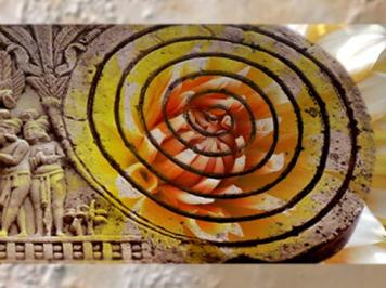 D'après une spirale sur le décor du grand stûpa de Sânchî, Ier siècle avjc-Ier siècle apjc, Inde du Nord. (Marsailly/Blogostelle)