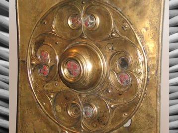 D'après le bouclier de Battersea, Tamise, Grande-Bretagne, Ier siècle avjc-Ier siècle apjc, La Tène, âge du Fer, art Celte. (Marsailly/Blogostelle)
