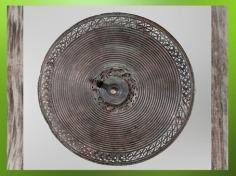 D'après un disque de harnachement, bronze, fer corail, Marne, IVe siècle avjc, La Tène, âge du Fer, art celte. (Marsailly/Blogostelle)