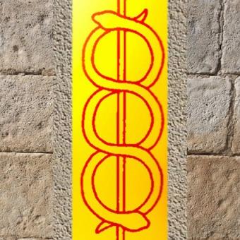 D'après le thème du bâton brahmanique, Brâhma-Danda, tradition de l'Inde. (Marsailly/Blogostelle)