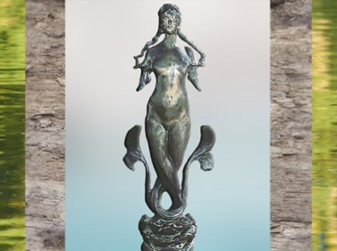 D'après la Fée Morgane, ronde bosse, Roche Pierre, Fernand Massignon, 1904. (Marsailly/Blogostelle)