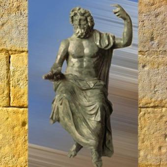 D'après une statue de Zeus et son Fulmen spiralé, selon le grec Phidias, Ve siècle avjc, Ier-IIe siècle apjc, art Romain. (Marsailly/Blogostelle)