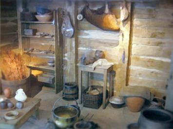 D'après la reconstitution d'un foyer Gaulois, oppidum de Bibracte, IIe-Ie siècle avjc, La Tène, Gaule celtique. (Marsailly/Blogostelle)