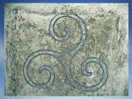 D'après le triskèle celtique, à triple spirales. (Marsailly/Blogostelle)