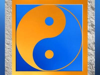 D'après le symbole chinois du Yin et du Yang, principes complémentaires féminin et masculin. (Marsailly/Blogostelle)