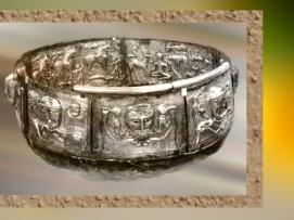 D'après le chaudron de Gundestrup, métal or et argent, Ier siècle avjc, art celte, Danemark. (Marsailly/Blogostelle.)