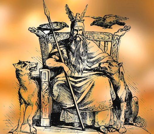 D'après le manuel de mythologie d'Alexander Murray, le dieu nordique Odhin, XIXe siècle. (Marsailly/Blogostelle.)