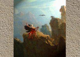 D'après l'œuvre de John Martin (détail), Le Barde, XIXe siècle. (Marsailly/Blogostelle.)