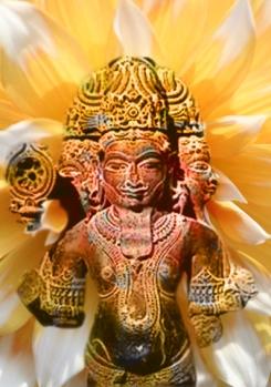 D'après le dieuBrâhma-Prajâpati, principe premier dans les Brahmana, Inde ancienne.(Marsailly/Blogostelle)