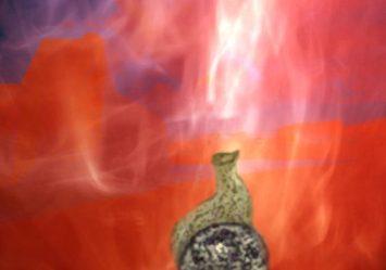 D'après le thème du feu sacrificiel. Tous les dieux participent à la fête du sacrifice du soma sous l'égide du dieu du Feu Agni. (Illustration Marsailly/Blogostelle.)