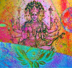 D'après le thème de l'Artisan Universel, cosmogonie védique,Inde ancienne. (Marsailly/Blogostelle)
